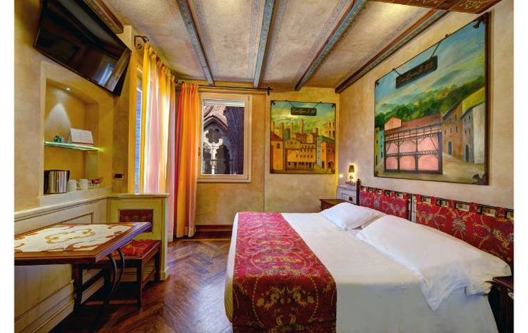 Deluxe double room with terrace  art hotel commercianti болонье